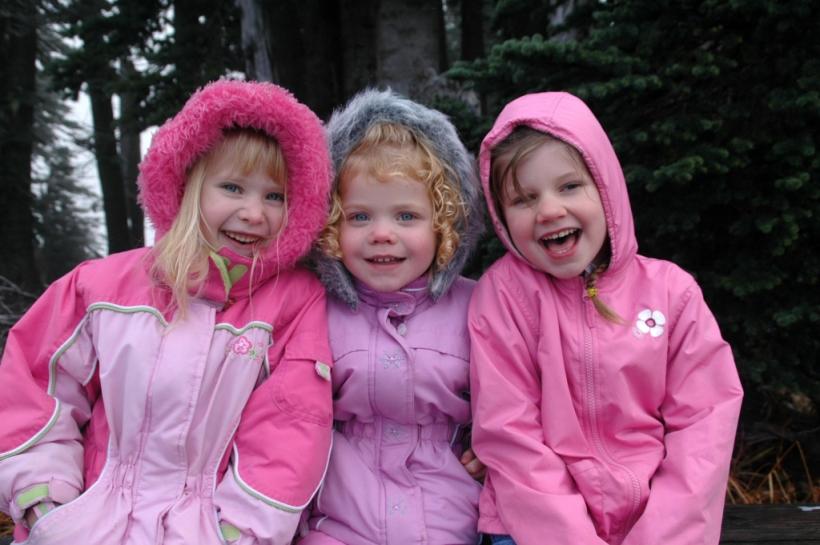 the girls with cousin Cheyenne on Hurricane Ridge